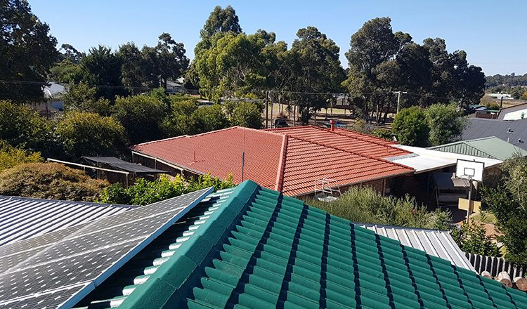 Green Coated Roof by ROOFWEST Bunbury