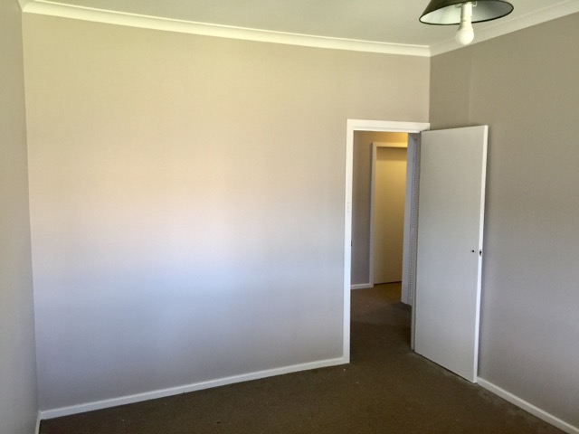 Freshly painted rooms