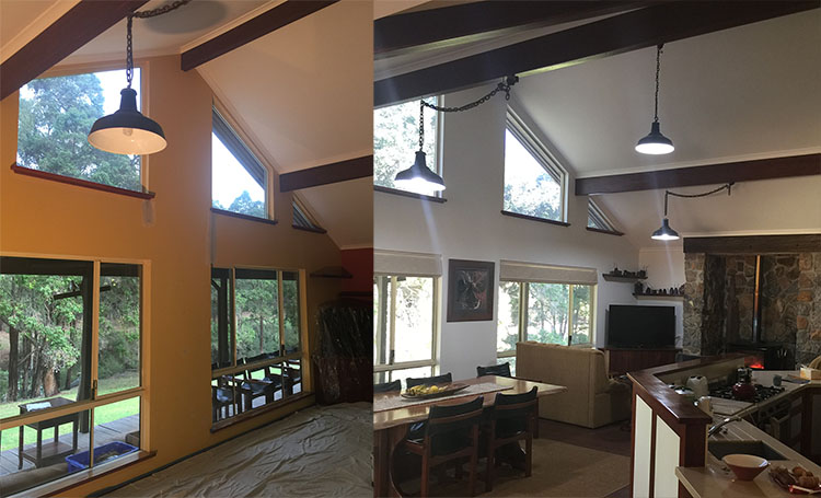 Before and After painting Living Area